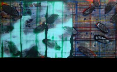 John Cronin, Standard Deviation, 2012, oil on aluminium, 60 x 120 x 3 cm (courte