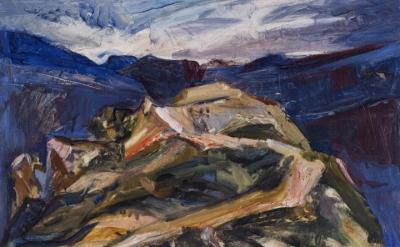 Jane Culp, Swimming: Toward Raven's Nest Peak  (courtesy of the artist)