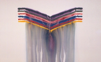 Dan Yellow Kuhne, Untitled, 5' x 7', 1972, acrylic on canvas, collection of the