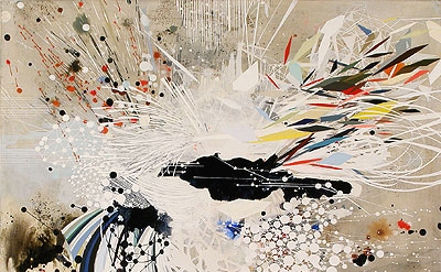 Reed Danziger, Angles of a Particle, Phase E, 2012, 20 x 20 inches, mixed media