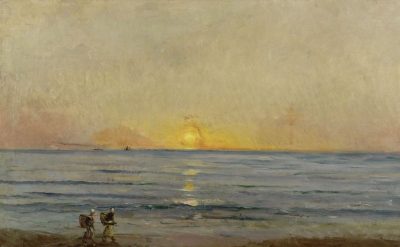 Charles François Daubigny, Sunset near Villerville, c. 1876 (The Mesdag Collection, The Hague)