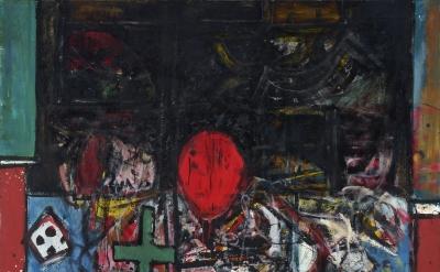Alan Davie, Monk's Vision, 1958, oil on canvas, 213.5 x 173.5 cm (courtesy of Al