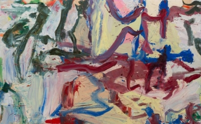 """Willem de Kooning, …Whose Name Was Writ in Water, 1975, oil on canvas, 6' 4 3/4"""""""