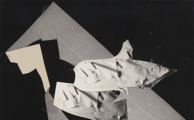 Jay DeFeo, Untitled 1975, photo collage with photocopy, 9 15/16 x 7 15/16 inches
