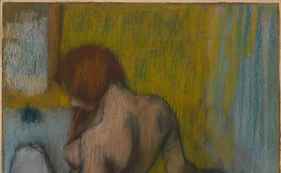 Edgar Degas, Woman With a Towel, 1894 or 1898, pastel on cream-colored wove pape