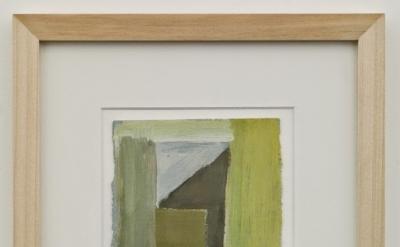Ilse D'Hollander, Untitled, 1996, gouache on paper, 6 7/8 x 5 1/8 inches (courte