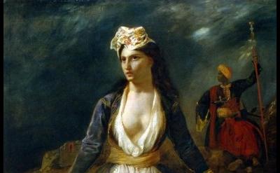 Eugène Delacroix, Greece on the Ruins of Missolonghi, 1826 (Musée des Beaux-Arts