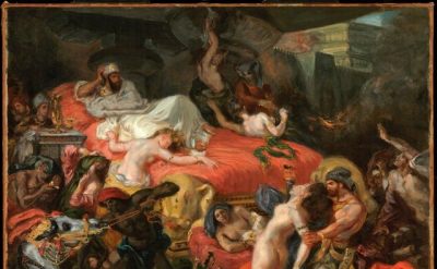 Eugène Delacroix, The Death of Sardanapalus (reduced replica), 1846, oil on canv