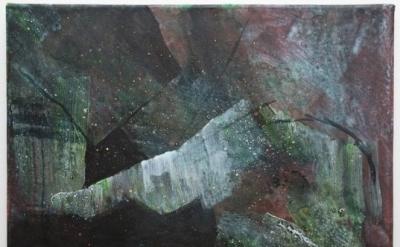 Lisa Denyer, Mountain 2013, acrylic on canvas 30 x 41 cm (courtesy of the artist