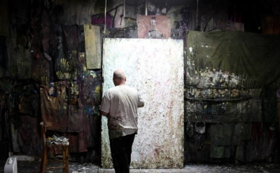 Rodney Dickson in his studio (photo courtesy of the artist)