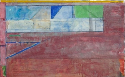 Richard Diebenkorn, Untitled #26, 1984. Gouache, acrylic, and crayon on joined p
