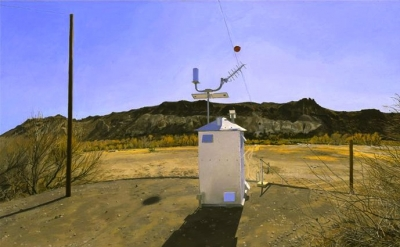 Rackstraw Downes, Water-Flow Monitoring Station on the Rio Grande Near Presidio,