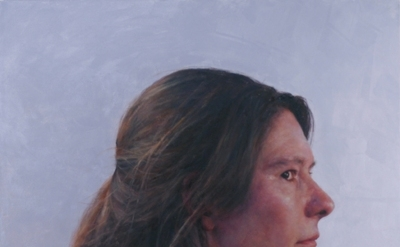 Jenny Dubnau, C.H., profile, 2012, oil on canvas, 36 x 36 inches (courtesy of th