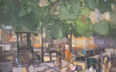 John Dubrow, Playground, 2012–15, oil on linen, 