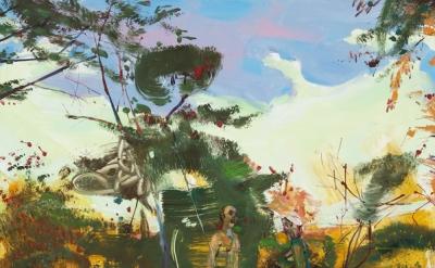 Angela Dufresne, Pastoral With Prophet Boy and Lady Jockey Folk Singer, 2012, oi