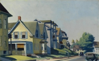 Edward Hopper, Sun on Prospect Street (Gloucester, Mass), 1934, 28 x 36 1/4 inch