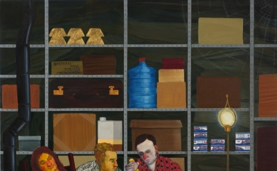 Nicole Eisenman, Tea Party, 2011, oil on canvas, 82 x 65 inches (courtesy of Sus