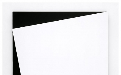 Ellsworth Kelly, White Relief, 2006, Oil on canvas, two joined panels, 80 1/8 x