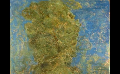 Eric Holzman, The Sky is Crying I, 2004, 89 x 69 inches, oil on canvas
