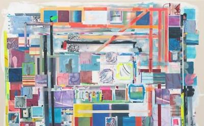 Franklin Evans, matissemodellessyellow, 2014, acrylic on canvas, 73 1/2 x 61 inc
