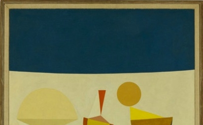 Frederick Hammersley Growing game, #1 1958, oil on canvas, 40 x 30 inches (court