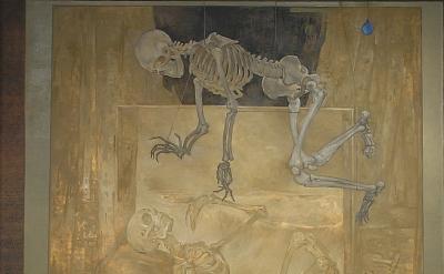Jessie Fisher, Copper Portrait of Scott in Studio Scene, oil on linen 120 x 72 i