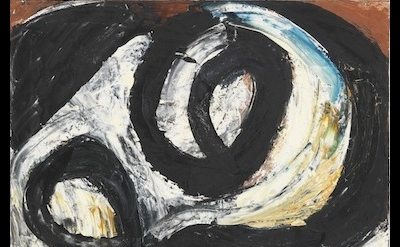 Louise Fishman, Navigation, 1981, oil on linen, 25 x 22 inches (courtesy Cheim &