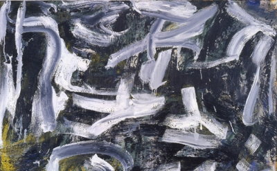 Louise Fishman, Longhand, 2007, oil on linen, 66 × 39 inches (courtesy of the ar