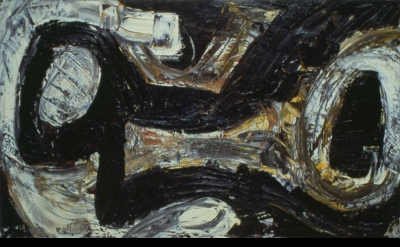Louise Fishman, Me and Joe, 1981, oil on linen, 19 x 32 inches (courtesy of the