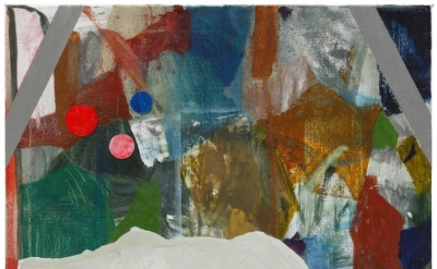 Patrick Michael Fitzgerald, Consolidation, oil & collage on linen, 55 x 46 cm, 2