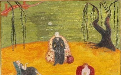 Florine Stettheimer, Heat, c. 1919, oil on canvas, 50 × 36.5 inches, collection