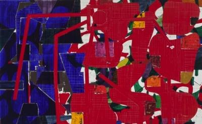 Will Fowler, Outside, 2012, acrylic on canvas, 65 x 78 x 1.5 inches (courtesy Da