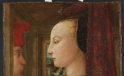 Fra Filippo Lippi, Portrait of a Woman with a Man at a Casement, ca. 1440, Tempe