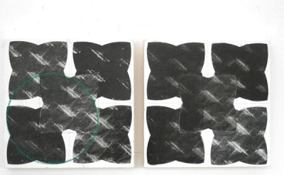 """Linda Francis, study for """"Interference,"""" 2010 – 2012 (courtesy of the artist)"""