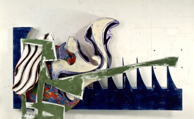 Frank Stella, The Shark Massacre, 1988 mixed media on etched magnesium and alumi