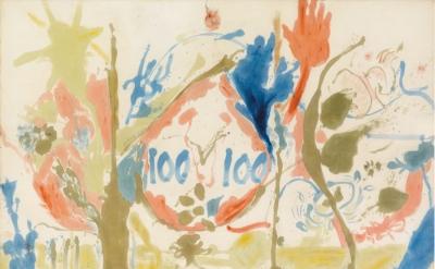 Helen Frankenthaler, Eden, 1956, oil on canvas 103 x 117 inches (© 2013 Estate o
