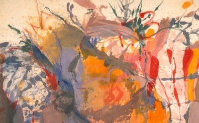 Helen Frankenthaler, Before the Caves, 1958, oil on unsized, unprimed canvas, 26