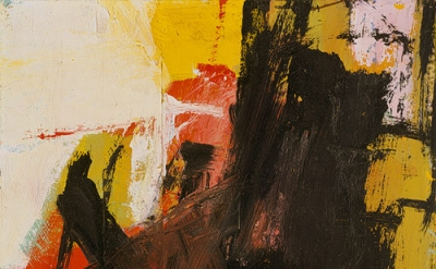 Franz Kline, Black Reflections, 1959, Oil and pasted paper on paper, mounted on