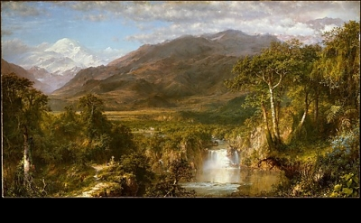 Frederic Edwin Church, Heart of the Andes, 1859, oil on canvas, 66 1.8 x 119 1/4