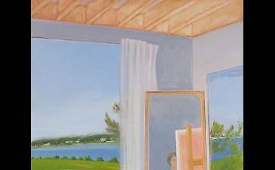 Jane Freilicher, Painter in the Studio, 1987, oil on canvas, 60 x 40 inches (cou