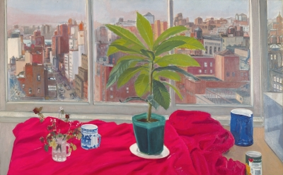 Jane Freilicher, Twelfth Street and Beyond, 1976, oil on linen, 50 by 60 inches