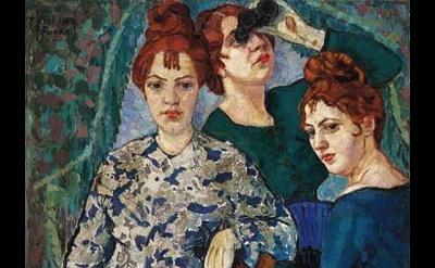 Helene Funke, In the Loge, 1904-07, 99 x 90 cm (Lentos Kunstmuseum)