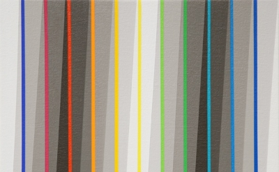 Gabriele Evertz, Seven Grays + One Color Sequence, 2011, Acrylic on canvas over