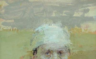 Ann Gale, Portrait in Last Light, 2012, oil on copper, 12 x 9 inches (courtesy o