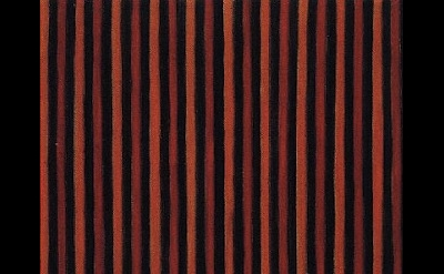 Gene Davis, Black Red Orange, 1958, 12 x 10 inches, oil on canvas