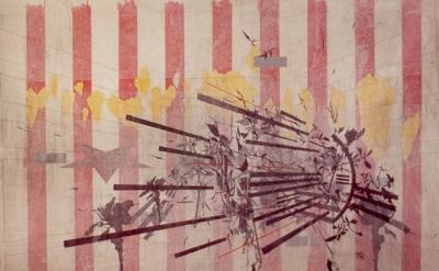 Geoffrey Detrani, Souvenirs & Barricades, 2010 pencil, ink, acrylic on paper mou