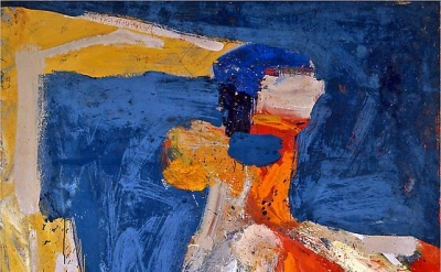 George McNeil, Asphodel, 1962, oil on linen, 78 x 72 inches (courtesy Ameringer
