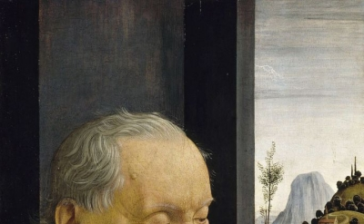 Domenico Ghirlandaio, An Old Man and his Grandson, ca. 1490, tempera on panel, 6