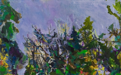 Allison Gildersleeve, Squall, 2011, oil and alkyd on canvas, 66 x 72 inches (cou