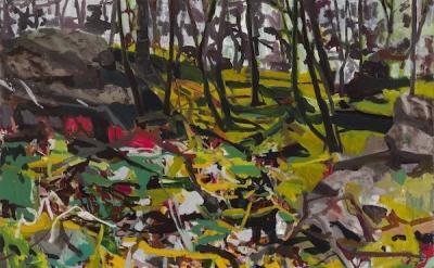 Allison Gildersleeve, Bramble, 2014, oil on canvas, 47 x 49 inches (courtesy of